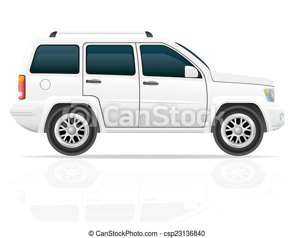 car jeep off road suv vector illustration - csp23136840