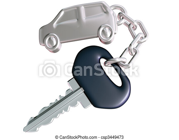 Car Key and Car Fob - csp3449473