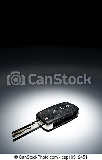 car key on dark background - csp10512451