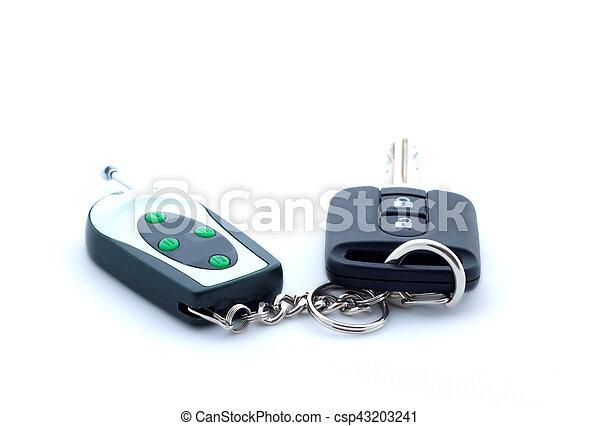 Car key on white background, isolated - csp43203241