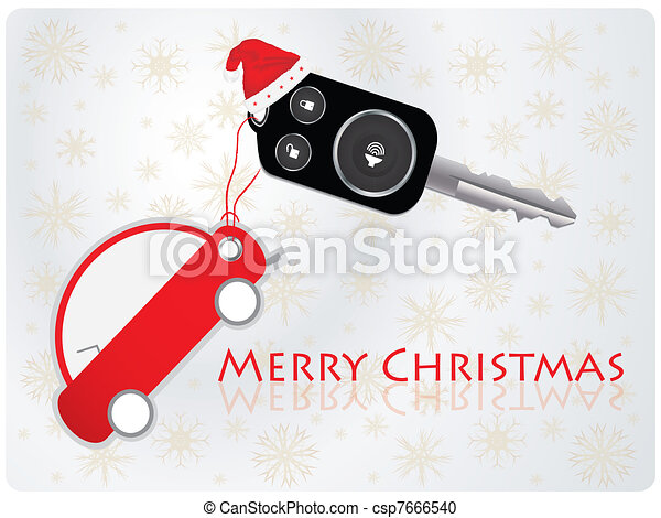 car key with remote - Christmas gif - csp7666540