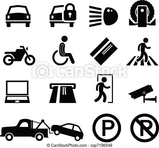 car, lembrete, estacionamento, parque, área - csp7196549