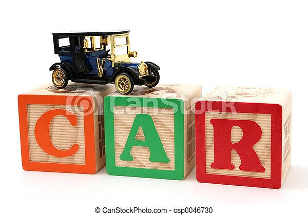 Car Letter Blocks - csp0046730