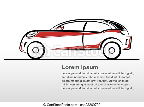 Car line art - csp23269739