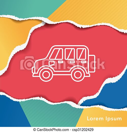 car line icon - csp31202429