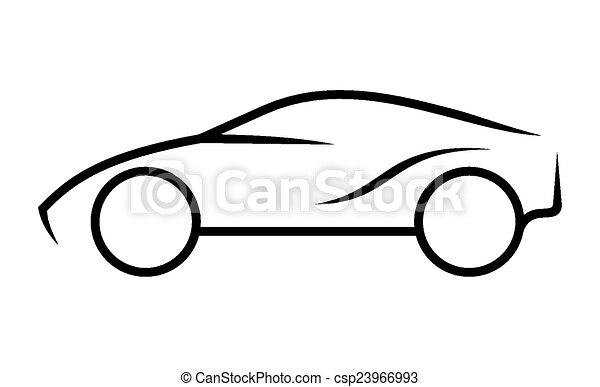 car, linha arte - csp23966993
