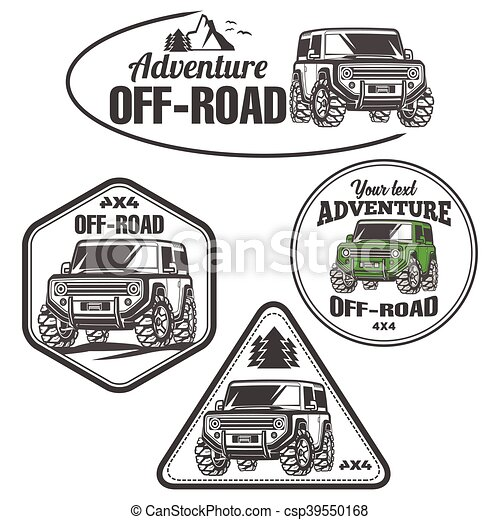 car logo off-road 4x4 suv trophy truck - csp39550168