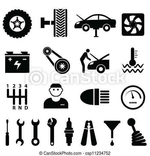 Car Maintenance And Repair Icons Car Maintenance And Repair Icon Set