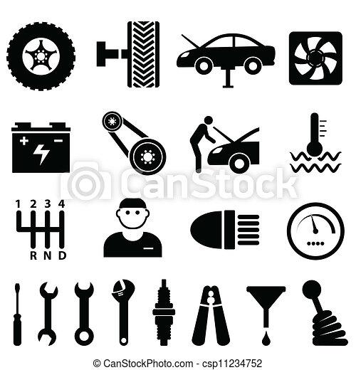 Car maintenance and repair icons - csp11234752