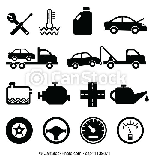 Car, mechanic and maintenance icons - csp11139871