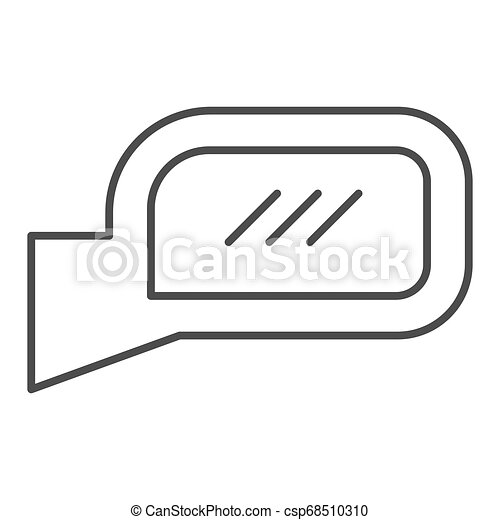 Car mirror thin line icon. Side mirror vector illustration isolated on white. Automobile rear mirror outline style design, designed for web and app. Eps 10. - csp68510310