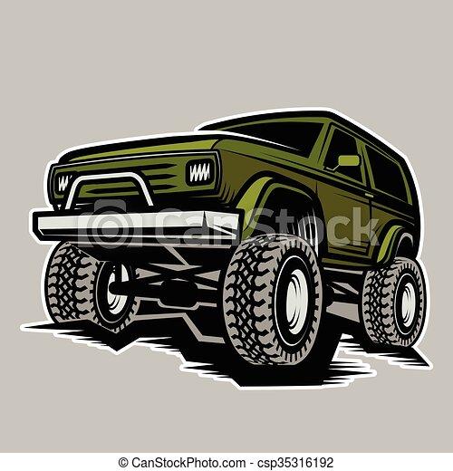 car off-road 4x4 suv trophy truck  - csp35316192