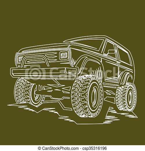 car off-road 4x4 suv trophy truck  - csp35316196