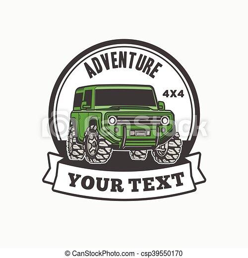 car off-road 4x4 suv trophy truck logo - csp39550170