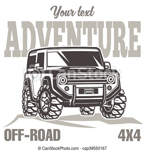 car off-road 4x4 suv trophy truck travel poster - csp39550167