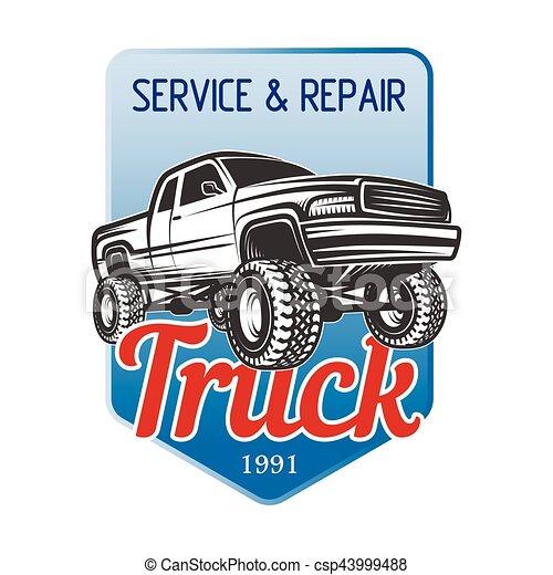 car off-road service 4x4 suv emblem, badges - csp43999488