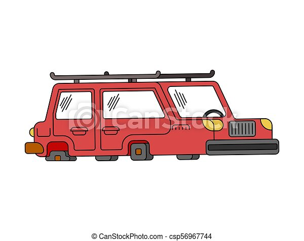 Car On Flat Tires Auto Does Not Go Vector Illustration