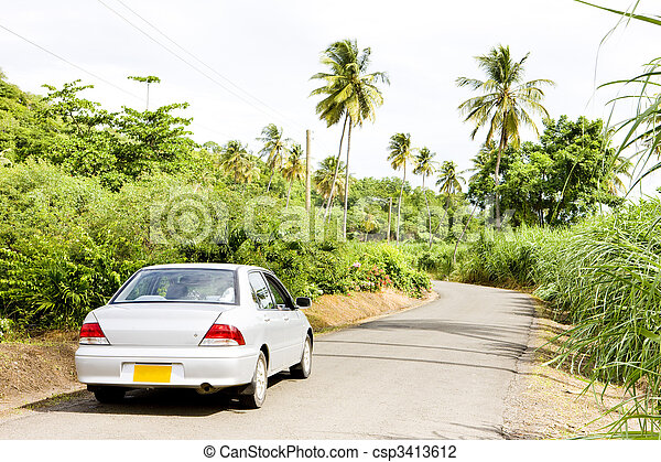 car on road, Grenada - csp3413612