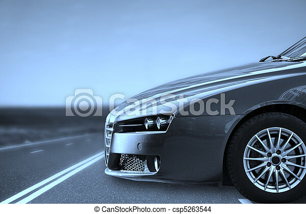 Car on the highway. - csp5263544