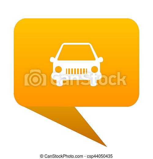 car orange bulb web icon isolated. - csp44050435