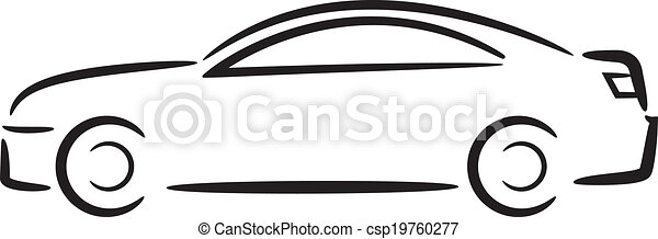 car outline vector illustration rh canstockphoto com  race car outline clip art