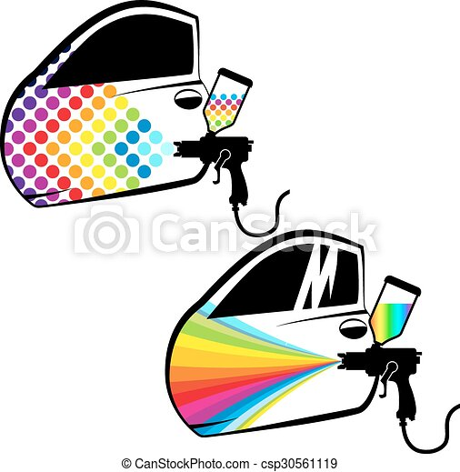 car painting vector painting cars and car parts vector vector clip rh canstockphoto com Auto Mechanic Clip Art free clipart auto parts