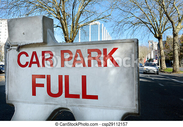 Car park full sign - csp29112157