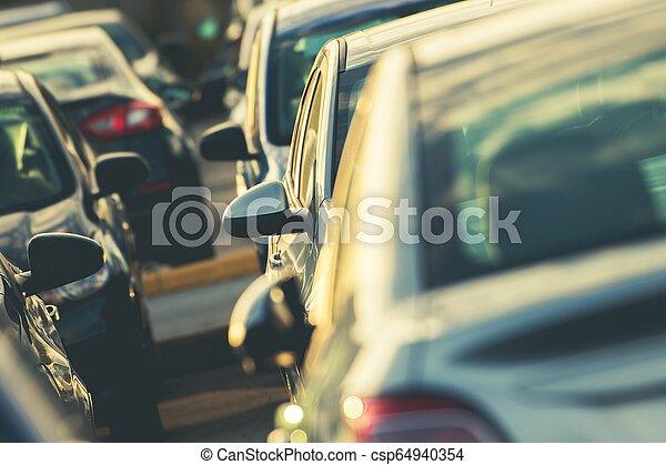 Car Parking Full of Vehicles - csp64940354