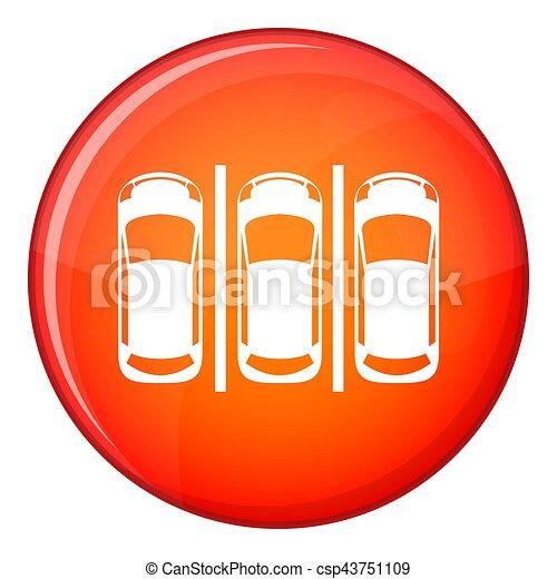 Car parking icon, flat style - csp43751109