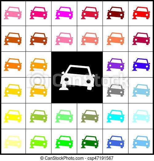 car parking sign vector felt pen 33 colorful icons at clip art rh canstockphoto com