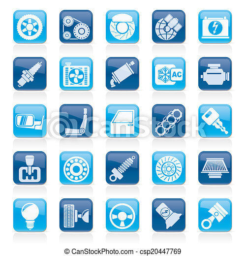 Car parts and services icons - csp20447769