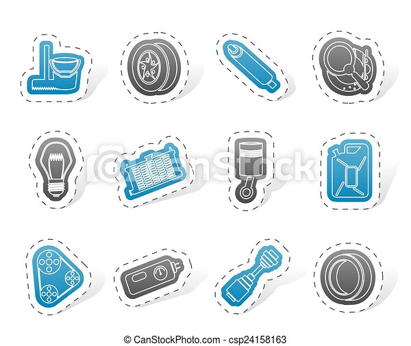 Car Parts and Services icons - csp24158163