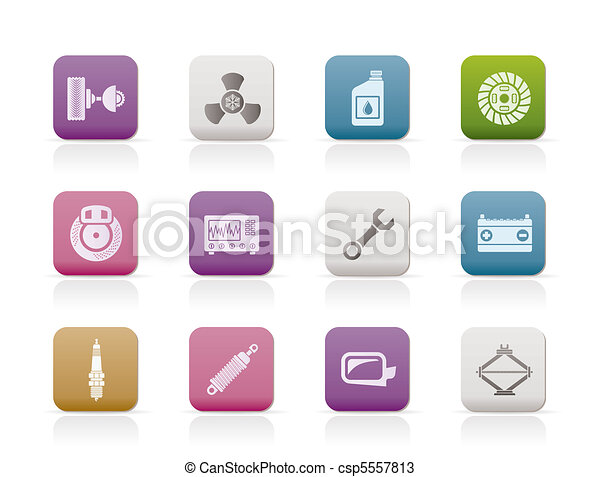 Car Parts and Services icons  - csp5557813