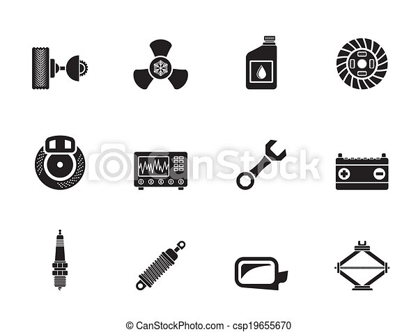 Car Parts and Services icons - csp19655670