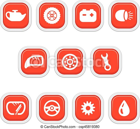 Car parts icons - csp45819380