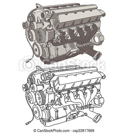 Car parts icons isometric - csp33817669