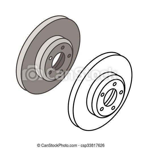 Car parts icons isometric - csp33817626