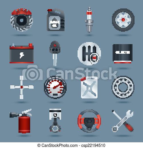 Car parts icons - csp22194510