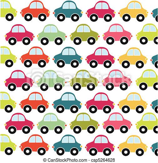car pattern, toy - csp5264628