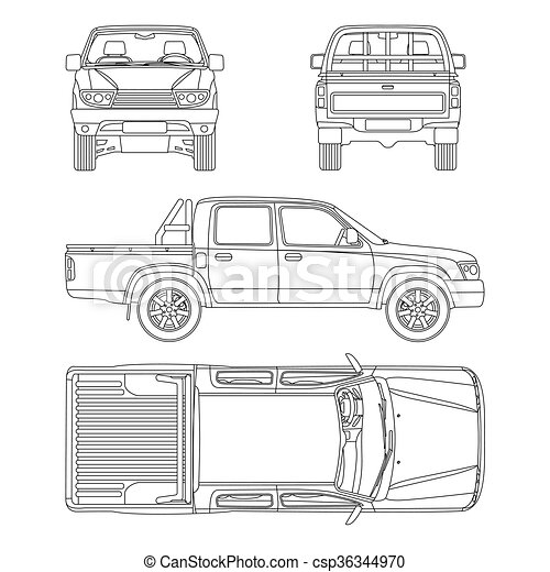 Car pickup truck 5 passengers vector illustration pickup truck car pickup truck 5 passengers vector illustration malvernweather Image collections