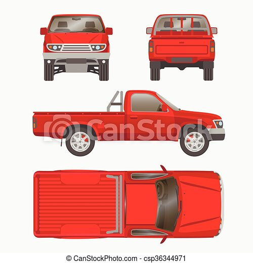Car pickup truck vector illustration pickup truck vector car pickup truck vector illustration malvernweather Image collections