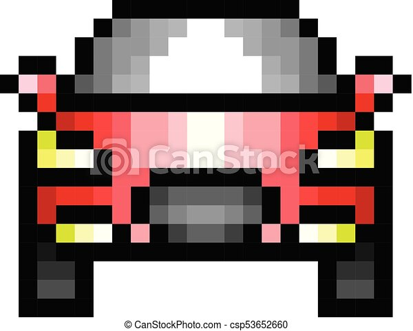 Car Pixel Icon In The Vector Eps 8 Format