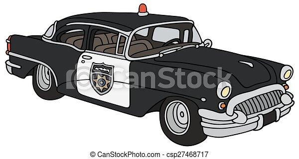car, polícia, clássicas - csp27468717