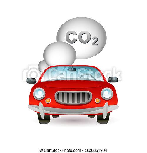 car pollution icon - csp6861904