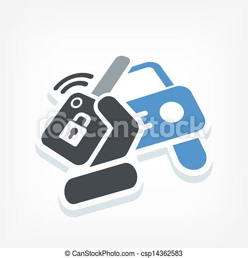 Car remote control key - csp14362583