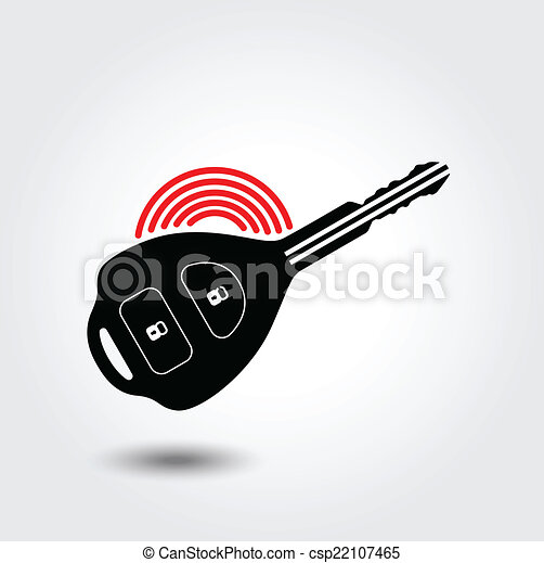 Car remote key symbol - csp22107465