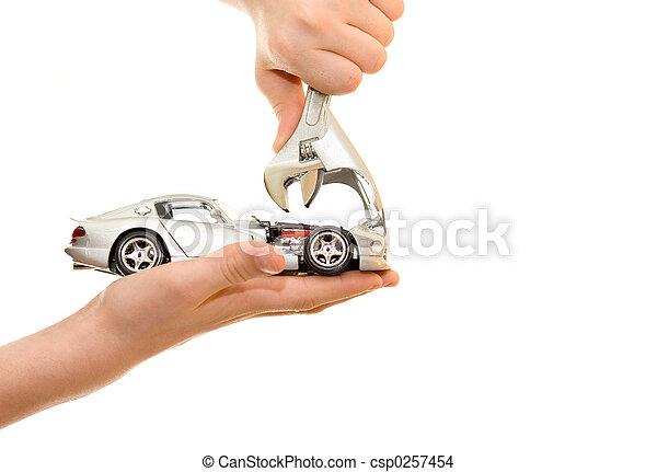 Car repair on palm - csp0257454