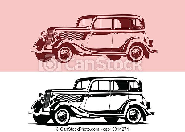 car, retro - csp15014274