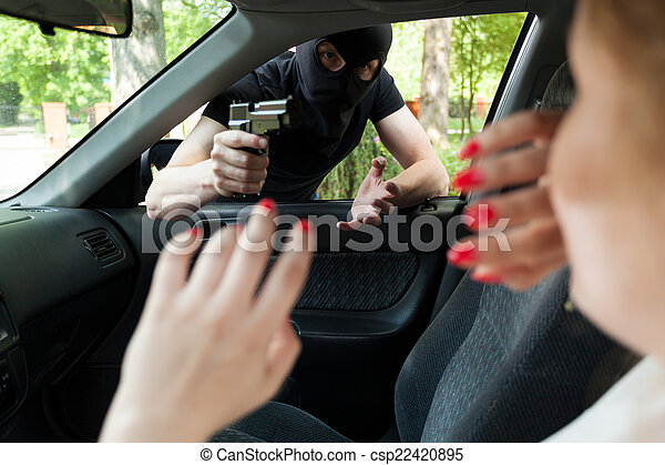 Car robbery - csp22420895