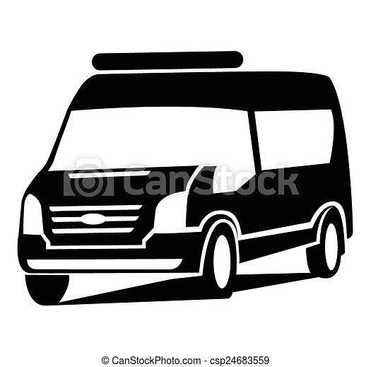car, símbolo, furgão - csp24683559